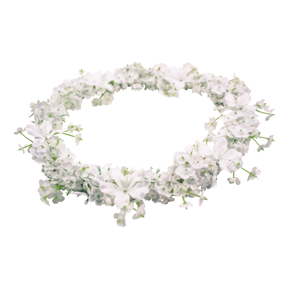 Girls Floral Halo White