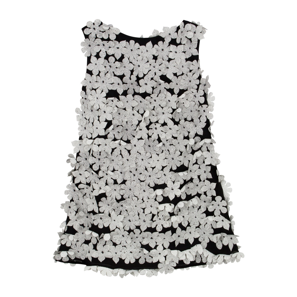 Speckled Floral Chiffon Girls Dress Sleeveless