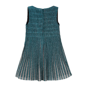 Pleated Sparkling Girls Shift Sleeveless