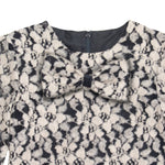Black & Tan Floral Girls Shift 3/4 Sleeve