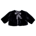 Black Faux Fur Girls Bolero