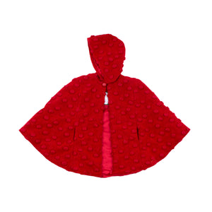 3D Oval Woolen Long Hooded Cape