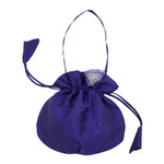 Taffeta Handbag With Organza Flower