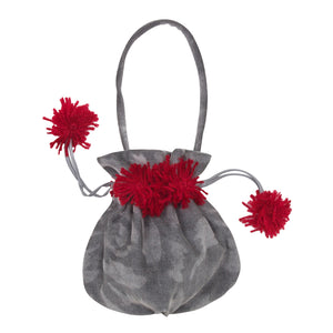 Abstract Floral Corduroy Handbag
