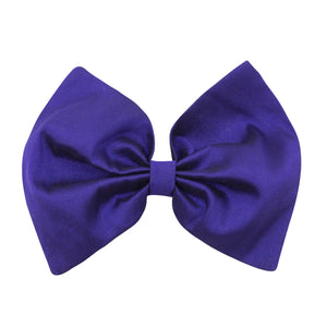 Bow Hair Clip In Plum Taffeta