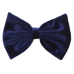 Bow Hair clip in Navy Velvet