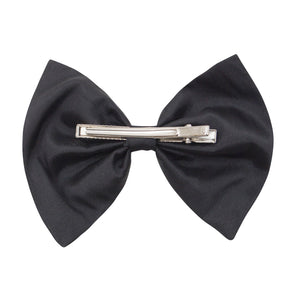 Bow Hair Clip In Black Taffeta