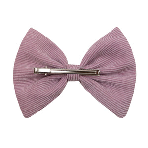 Bow Hairclip in Rose Corduroy