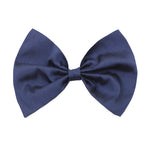 Bow Hair Clip In Navy Taffeta