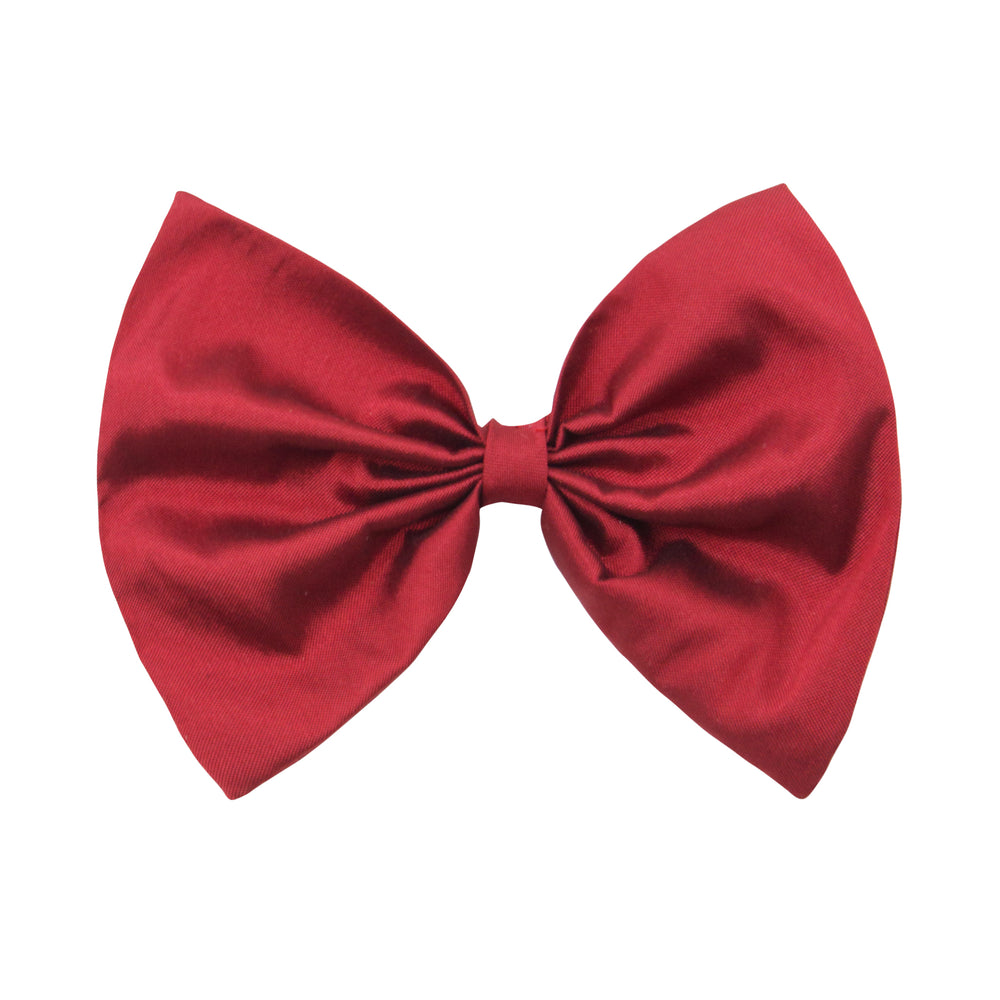 Bow Hair Clip In Red Taffeta
