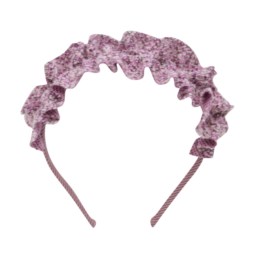 Rose Cord Ruffle Headband
