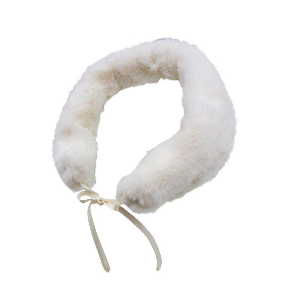 Ivory Faux Fur Girls Collar