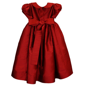 Classic Smocked Girls Holiday Dress