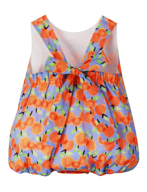 Peaches Baby Girls Cotton Bubble Big Bow Detail