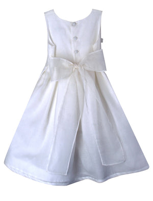 Beloved Sleeveless Hand Embroidered Flowers Organza Girls Dress