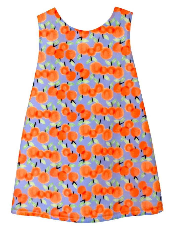 Peaches Girls Cotton Sundress with Big Bow Detail