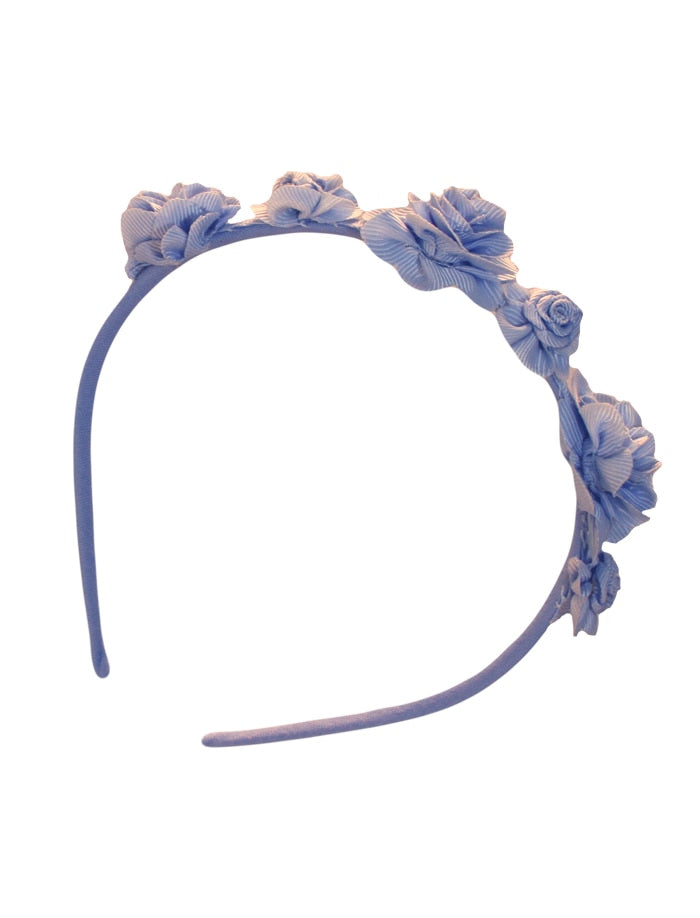 Rose trimmed Girls Headband
