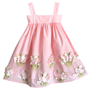 Baby Cotton Sundress with Hydrangeas