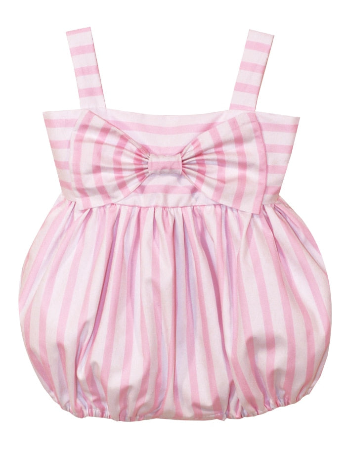 Wide Stripe Big Bow Baby Bubble