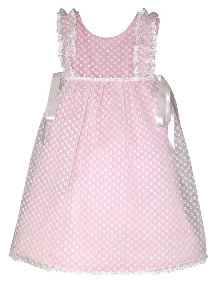 Girly Eyelet Organza Flowers Toddler Dress