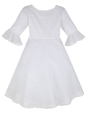 Sprinkle Organza Eyelet Girls Dress