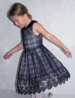 Sleeveless Wide Skirt Lined Mesh Baby Dress