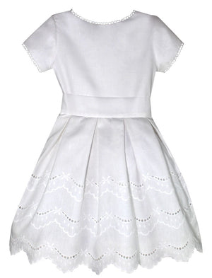 Jewel Linen Girls Dress