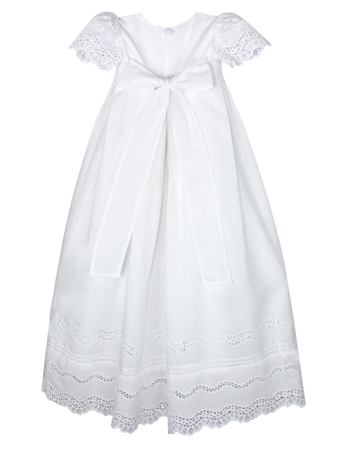 Pristine Cotton Christening Gown with Bonnet