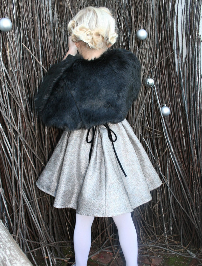 Medium Length Faux Fur Cape