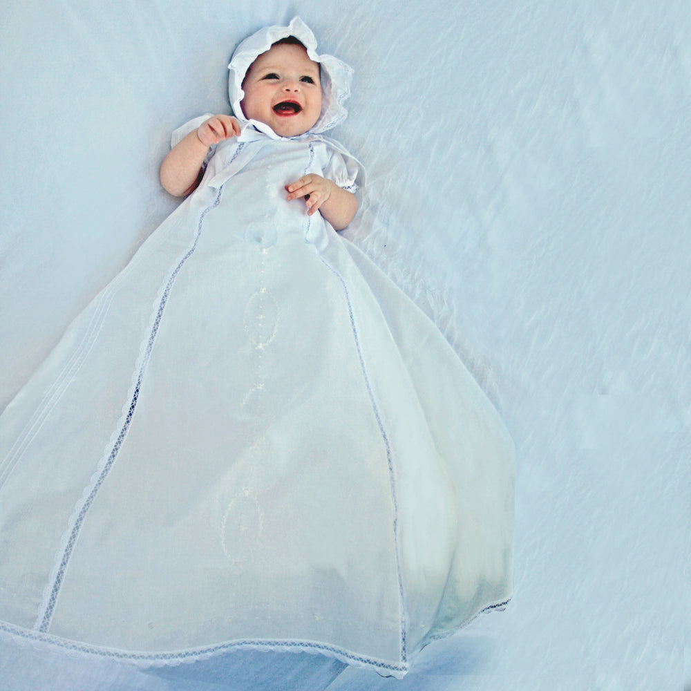 Cameo Christening Gown & Bonnet