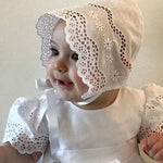 Pristine Cotton Christening Gown & Bonnet