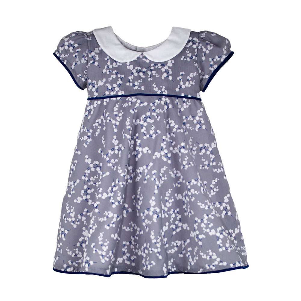 Short Sleeve Girls Snowflake Floral Girls Dress