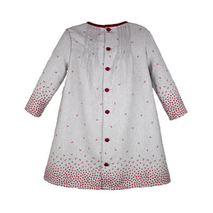 Long Sleeve Rosebud Knit Baby Dress
