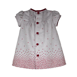 Short Sleeve Rosebud Knit Baby Dress