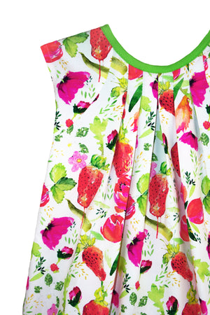 Strawberries Girls Sundress with Tie