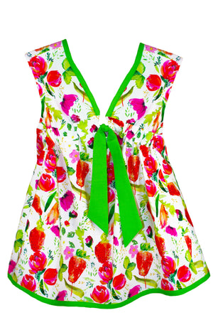 Strawberries Baby Sundress with Tie
