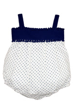 Cotton Navy Polka Dot Sun Bubble