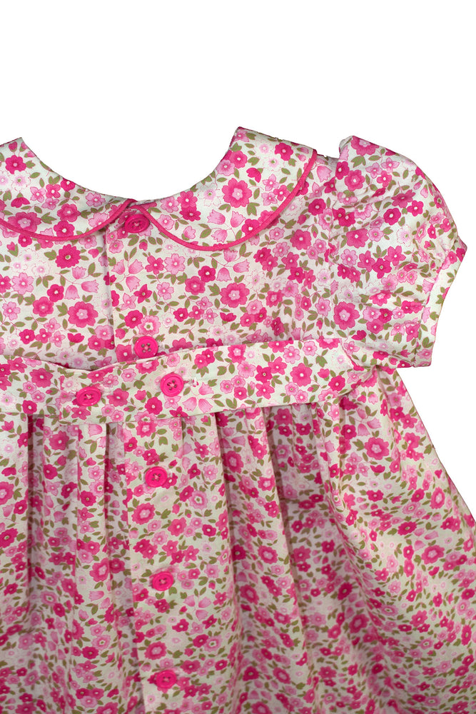 Short Sleeve Smocked Garden Floral Baby Dress