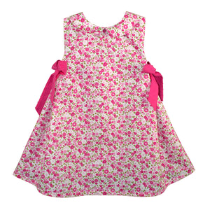 Garden Floral Girls Sundress with Peter Pan Collar