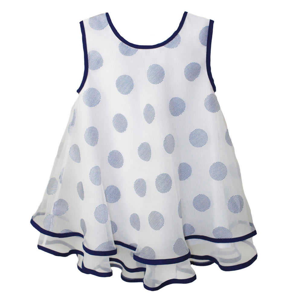 Big Dots Organza Ruffle Girls Sundress