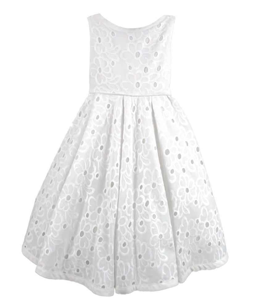 Daisy Cotton Eyelet Girls Dress