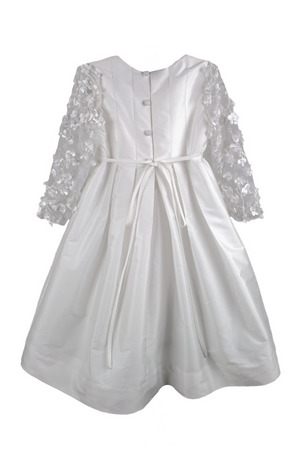Blossom Taffeta Long Sleeve Girls Dress