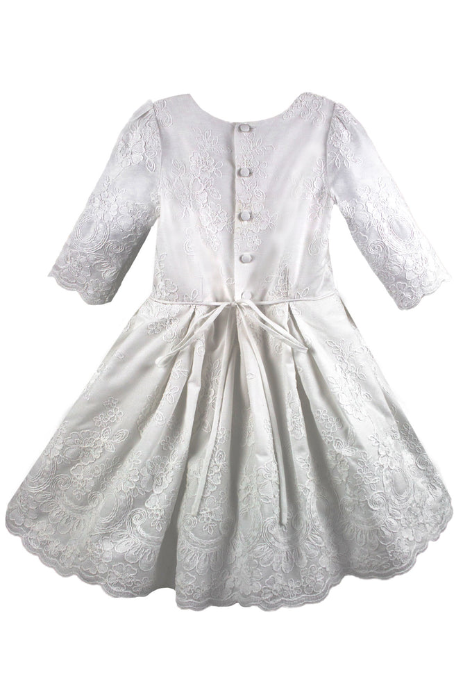 Exquisite Cotton Girls Dress Below Knee Length