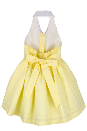 Cotton Pique Halter Girls Sundress