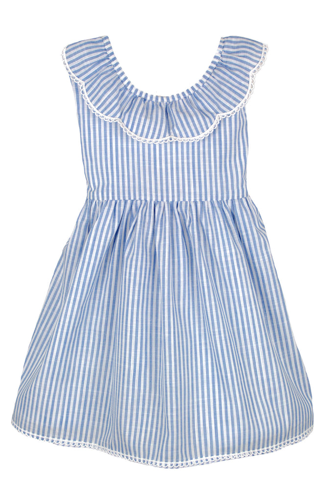 Ruffle Collar V-back Sundress