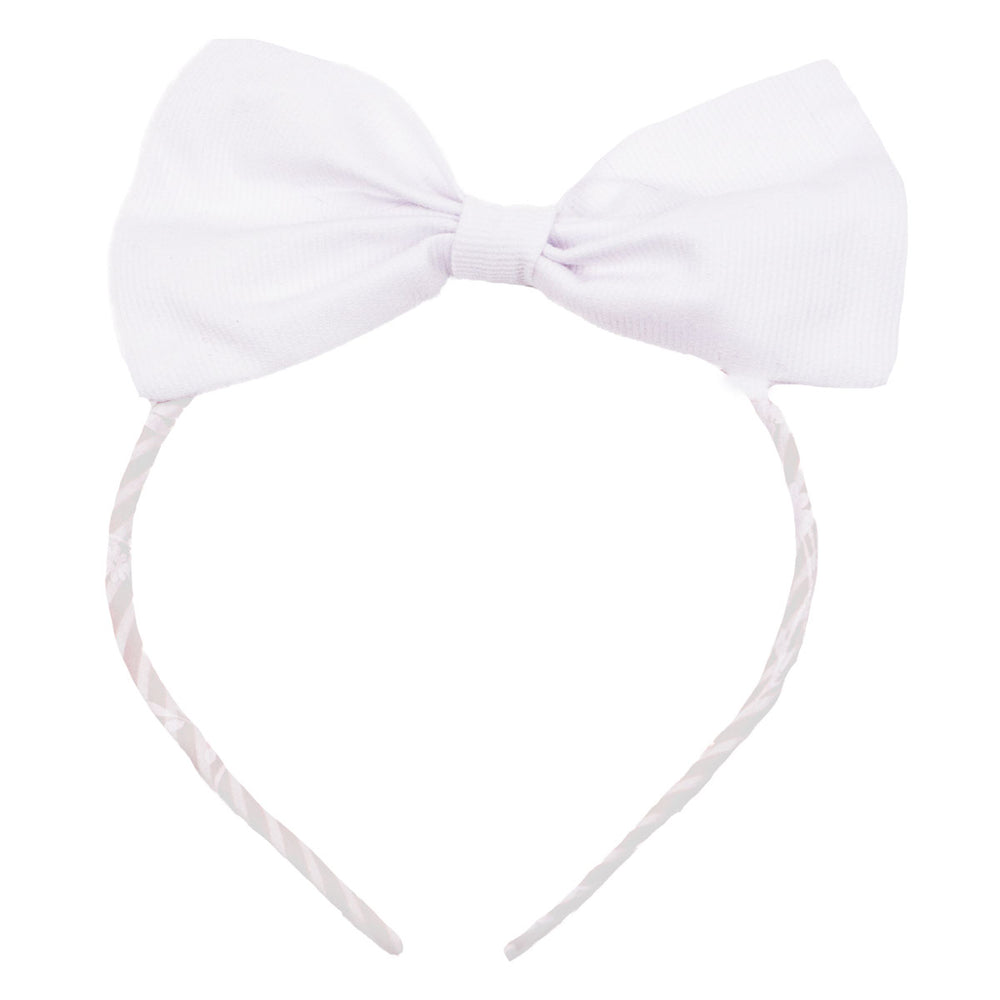 Cotton Pique Big Bow Headband