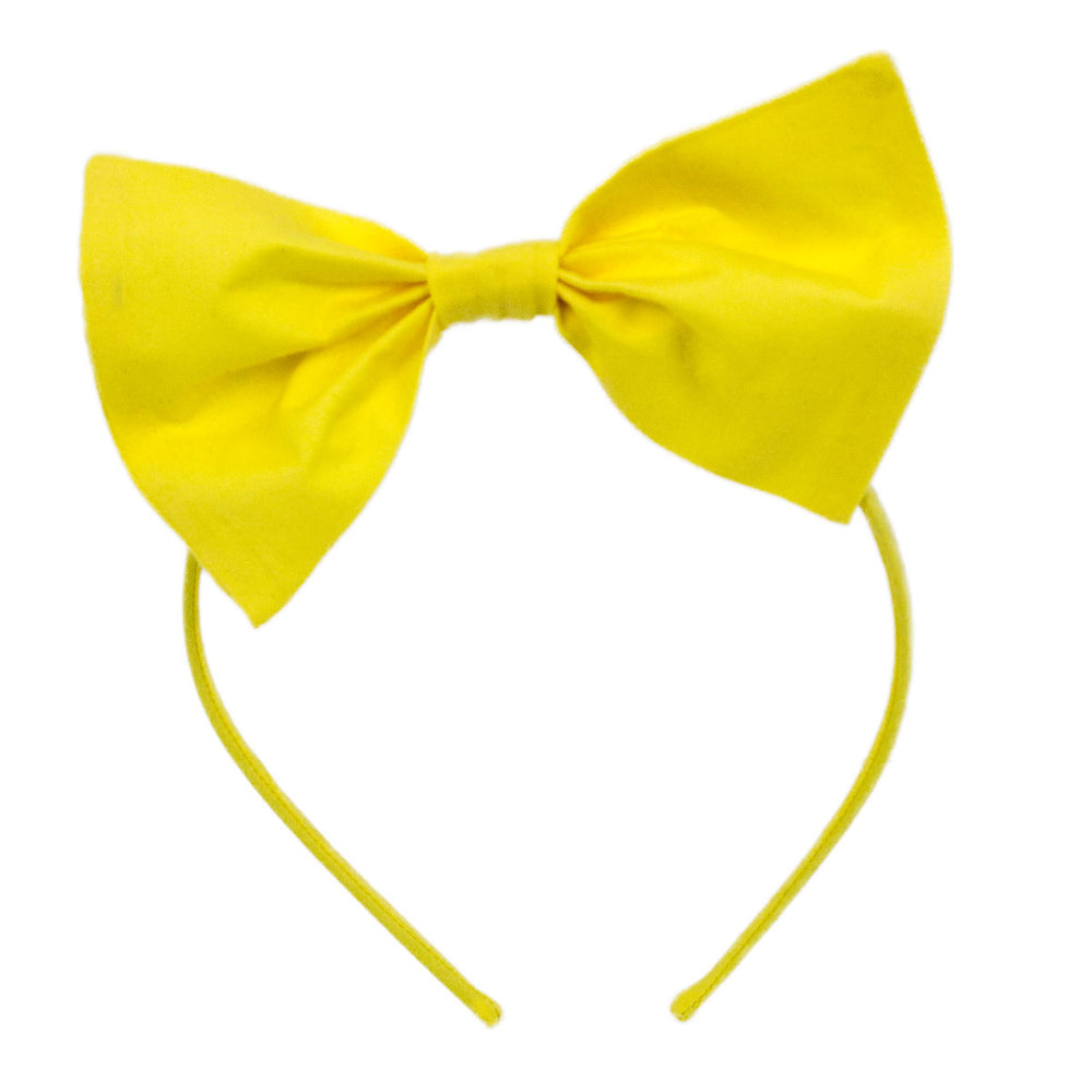 Cotton Solid Big Bow Headband