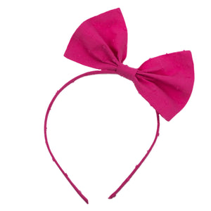 Cotton Swiss Dot Big Bow Headband
