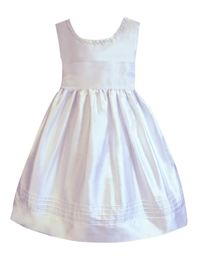 Melody Embroidered V-Back Plus Size Girls Dress