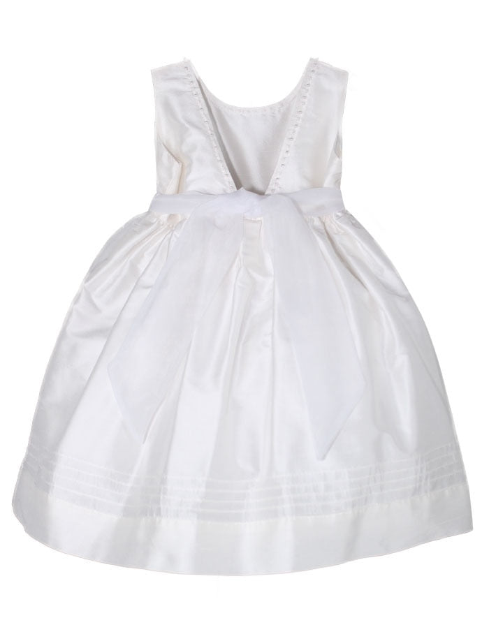 Melody Embroidered V-Back Baby Dress